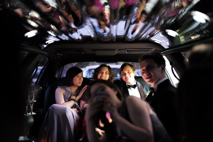 Limousine on Prom Night